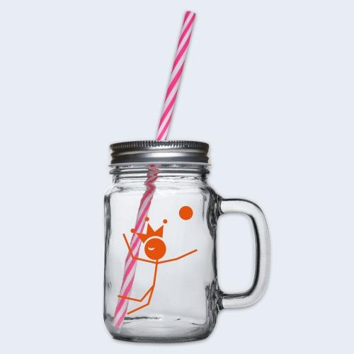 Volleybalkoning - Drinkbeker met handvat en schroefdeksel