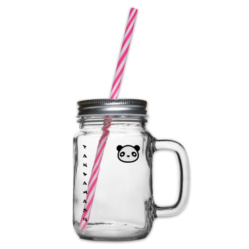 pandamash - Glass jar with handle and screw cap