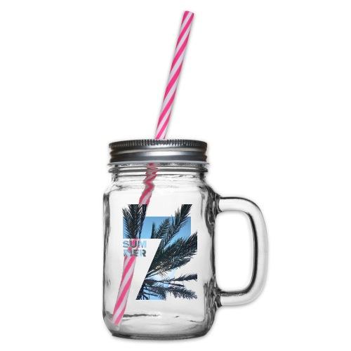 Summertime - Drinkbeker met handvat en schroefdeksel