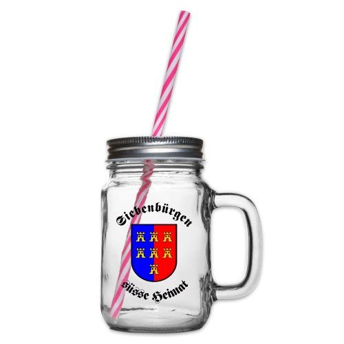Siebenbürgen suesse Heimat - Wappen der - Henkelglas mit Schraubdeckel