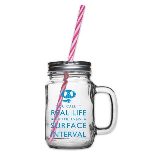 Real life vs surface interval - Henkelglas mit Schraubdeckel