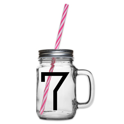 7 - Glass jar with handle and screw cap