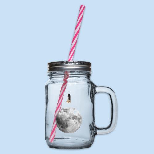 Mondrakete - Henkelglas mit Schraubdeckel