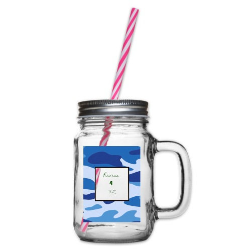My channel - Glass jar with handle and screw cap