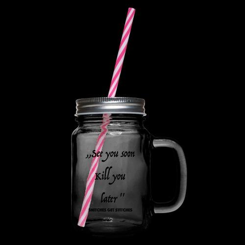 Haters - Henkelglas mit Schraubdeckel