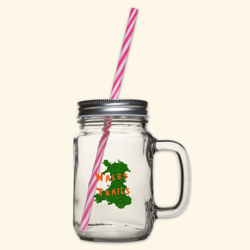 Wales Trails - Glass jar with handle and screw cap