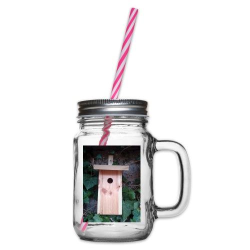 Der Nistkasten - Luxus für den Garten-Vogel - Henkelglas mit Schraubdeckel