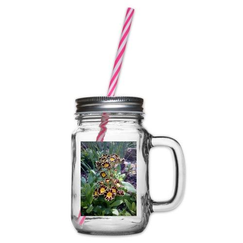 Primel - Henkelglas mit Schraubdeckel