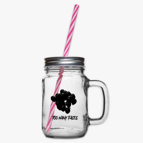 Too many faces (NF) - Glass jar with handle and screw cap