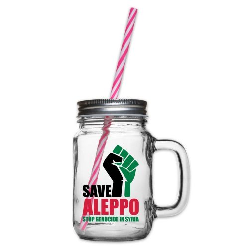 SAVE ALEPPO - Glass jar with handle and screw cap