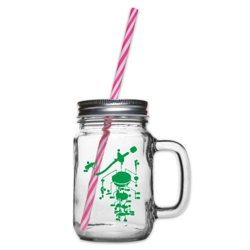 tonearm05 - Drinkbeker met handvat en schroefdeksel