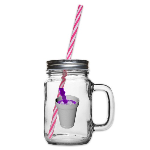 lean - Glass jar with handle and screw cap