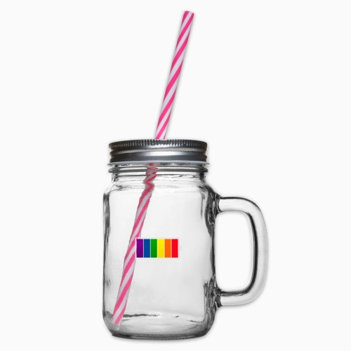 Fulladet for Pride - Glass jar with handle and screw cap