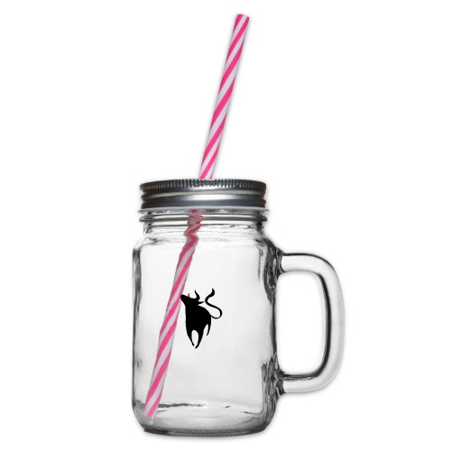 Bull - Glass jar with handle and screw cap