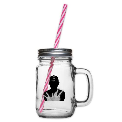 JAG SÅG SVART - Glas med handtag och skruvlock