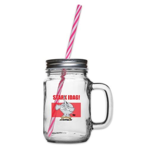 Stark idag - Glas med handtag och skruvlock