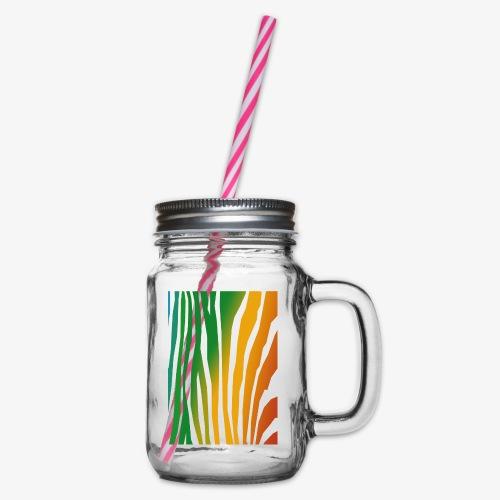 zebralong png - Glas med handtag och skruvlock