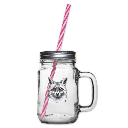 Fuchs - Henkelglas mit Schraubdeckel