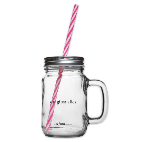 True Power #jura - Henkelglas mit Schraubdeckel