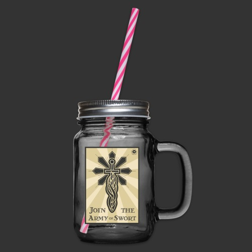 Join the army jpg - Glass jar with handle and screw cap