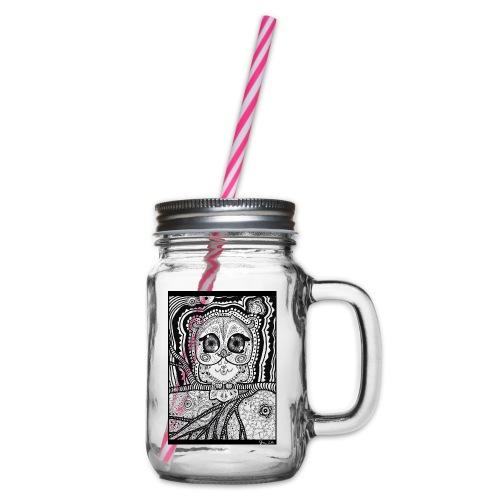 Psychedelic Owl - Henkelglas mit Schraubdeckel