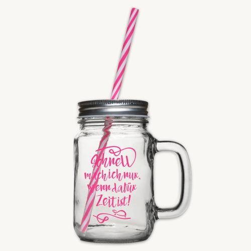 Schildi Spruch - Henkelglas mit Schraubdeckel