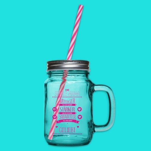 Single Mama - Henkelglas mit Schraubdeckel