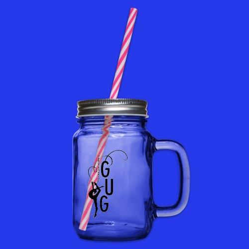 GUG logo - Henkelglas mit Schraubdeckel