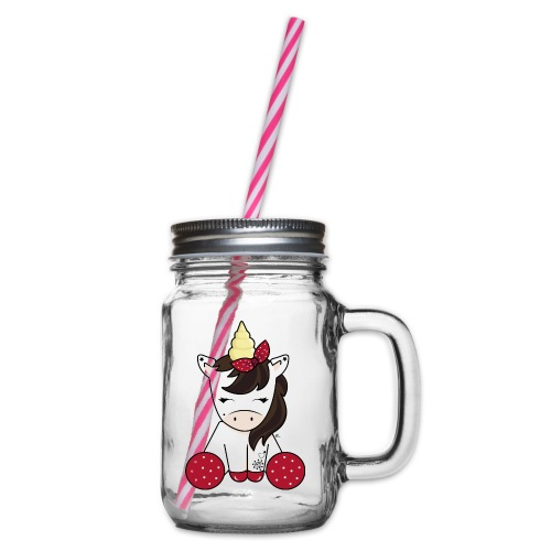 Licorne rockabilly - Bocal à boisson