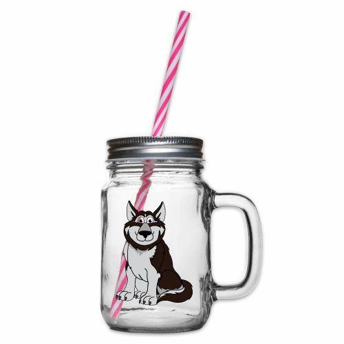 Husky - Henkelglas mit Schraubdeckel