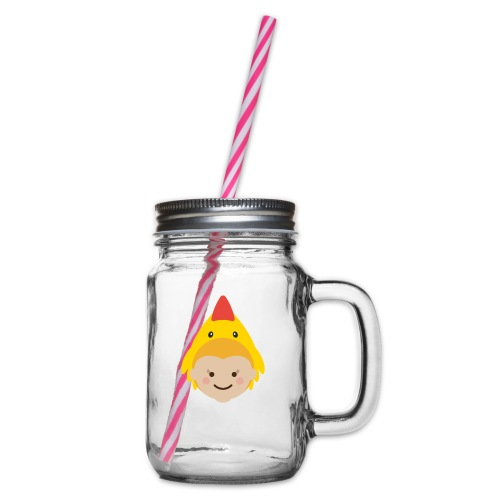 Lola the Chicken | Ibbleobble - Glass jar with handle and screw cap
