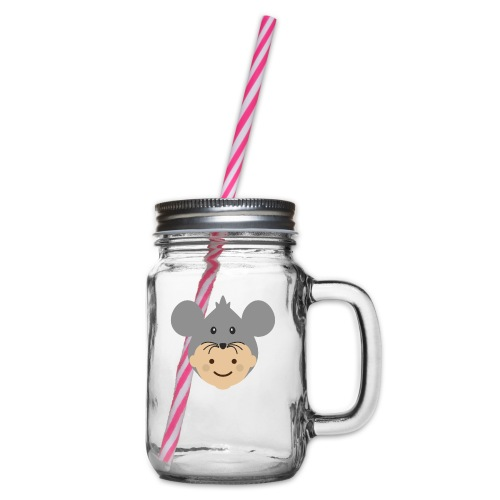 Mr Mousey | Ibbleobble - Glass jar with handle and screw cap