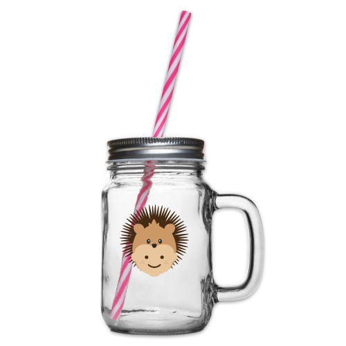 Fin the Hedgehog | Ibbleobble - Glass jar with handle and screw cap