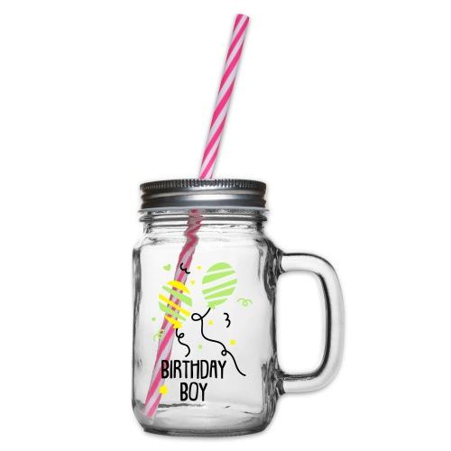 Geburtstagsshirt JUNGS - Henkelglas mit Schraubdeckel