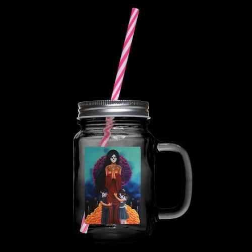los fieles difuntos - Glass jar with handle and screw cap