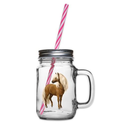 Pony Hengst - Henkelglas mit Schraubdeckel
