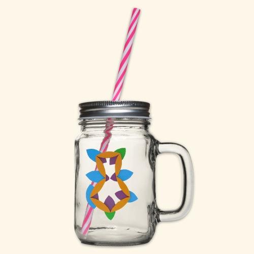 oranjeblanjebleu - Drinkbeker met handvat en schroefdeksel