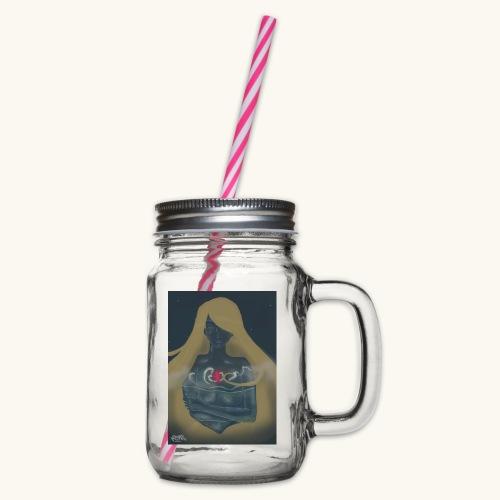 Femme en verre - Bocal à boisson