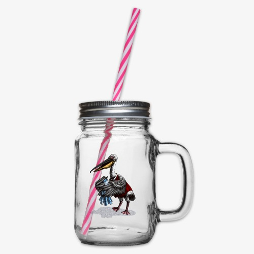 Pelican Publican - Glass jar with handle and screw cap