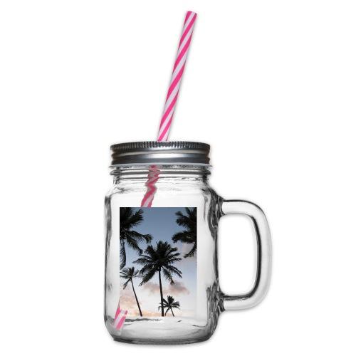 PALMTREES DOMINICAN REP. - Drinkbeker met handvat en schroefdeksel