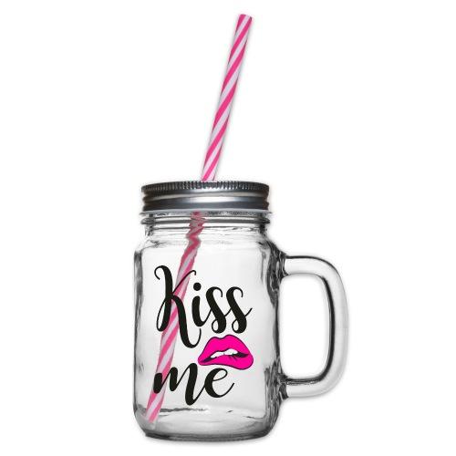 Embrasse moi - Bocal à boisson