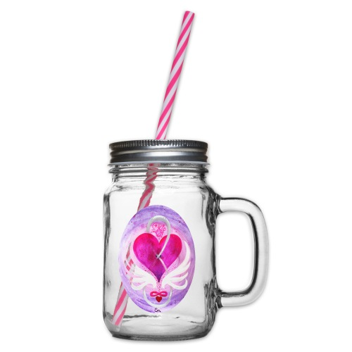 Liebe in Balance - Henkelglas mit Schraubdeckel