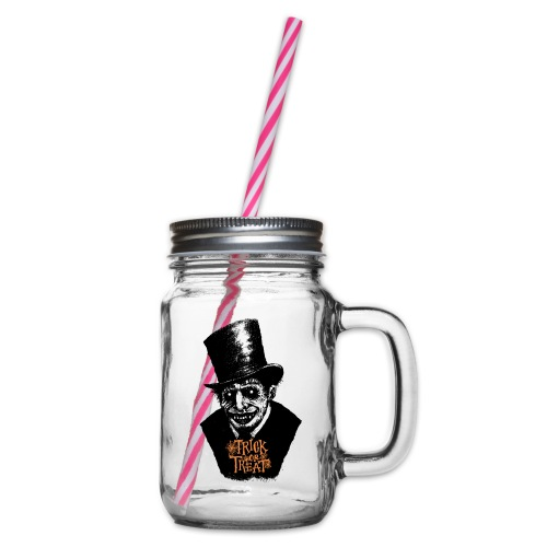 Halloween Death - Glass jar with handle and screw cap