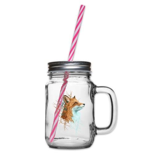 Happy the Fox - Henkelglas mit Schraubdeckel