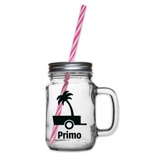 Primo Groot - Drinkbeker met handvat en schroefdeksel