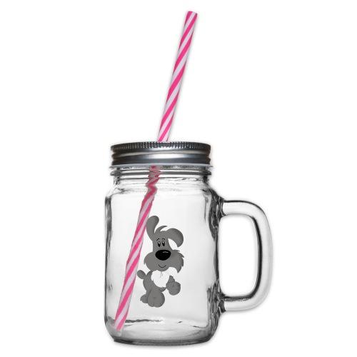 Buddy - Henkelglas mit Schraubdeckel