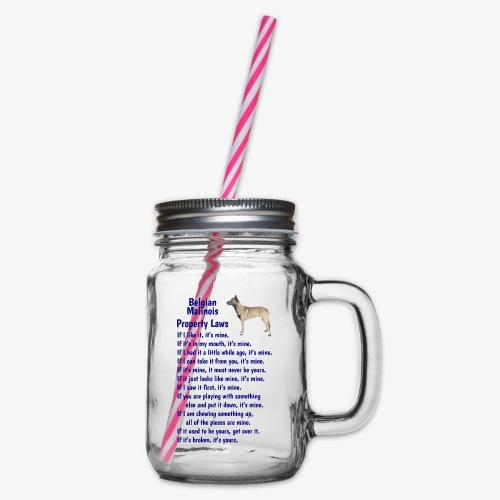 Belgian Malinois property laws - Glass jar with handle and screw cap