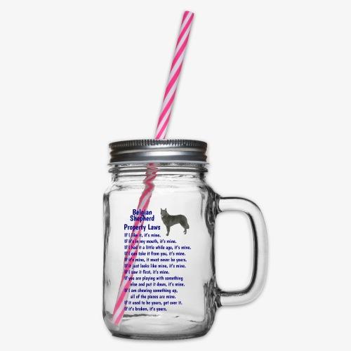 Belgian Shepherd Property laws - Glass jar with handle and screw cap