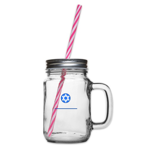 Wir sind auch Juden - Henkelglas mit Schraubdeckel