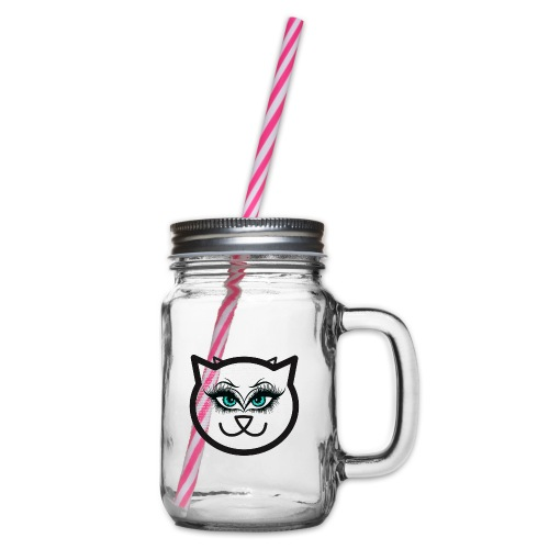 Hipster Cat Girl by T-shirt chic et choc - Bocal à boisson